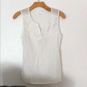Light weight linen 100% cotton sleeveless blouse